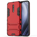 Slim Armour Tough Shockproof Case & Stand for Oppo Reno Z (Red)